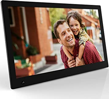 Digital Picture Frames 1280/×800 HD Digital Picture Frame 10 Inch Electronic Digital Photo Frame IPS Display with HU Motion Sensor 1080P 720P Video Multiple Functions Color : Black