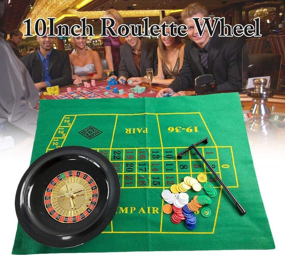 MRlegendary - Juego de fichas de póquer de 10 Pulgadas con Ruedas de Ruedas, Juego de Ruedas para Fiestas, Juegos de diversión para Borad Juegos de Mesa para Adultos para niños: Amazon.es: