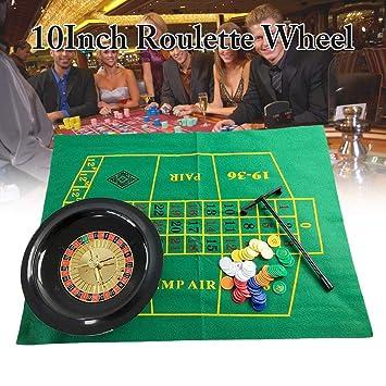 MRlegendary - Juego de fichas de póquer de 10 Pulgadas con Ruedas ...