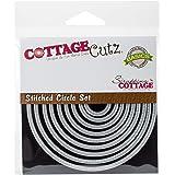 CottageCutz Basics Stitched Circle, 0.75-3.75-Inch, 9/Pkg, Grey