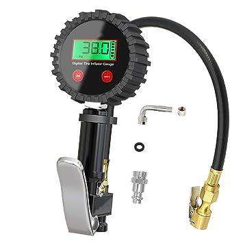 Medidor digital de presión de neumáticos – inflador automático de neumáticos con medidor de aire y