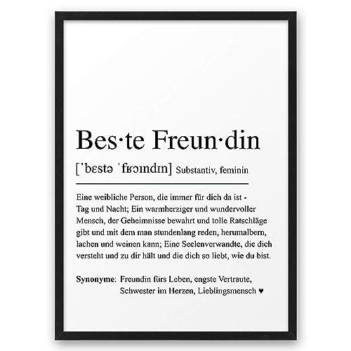 Beste Freundin Definition Abouki Kunstdruck Poster Bild Geschenk Idee Für Frauen Freundinnen Geburtstag Weihnachten Mädelsabend Ungerahmt Din A4 Handmade