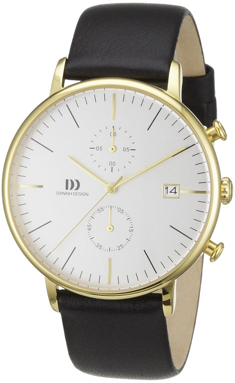 Danish Design 3310081 - Reloj analógico de Cuarzo para Hombre con Correa de Piel, Color Negro