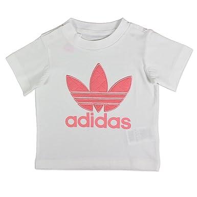 t-shirt adidas blanc et or