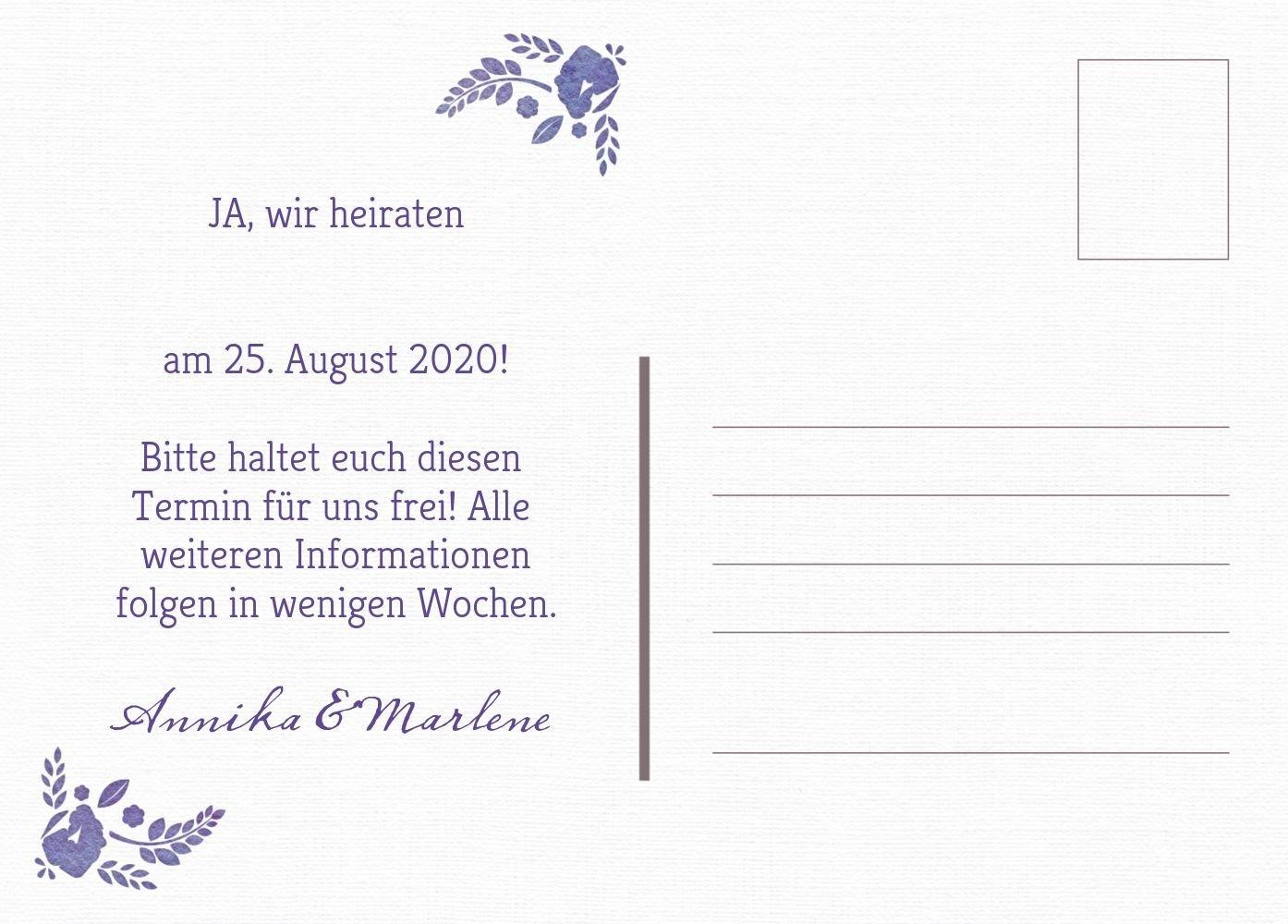 Save-the-Date Vogelpaar - - - Frauen, 80 Karten, MattGrün B07B6NPLCH | Verrückte Preis  | eine breite Palette von Produkten  | Ausgezeichnet  2926d3
