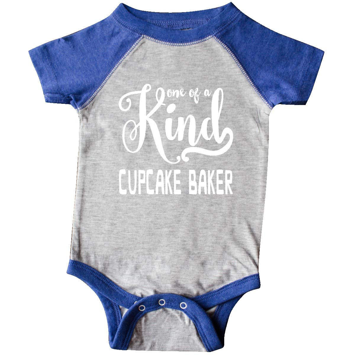 inktastic Gift for Cupcake Baker 1 Infant Creeper 6 Months Heather and Royal by inktastic