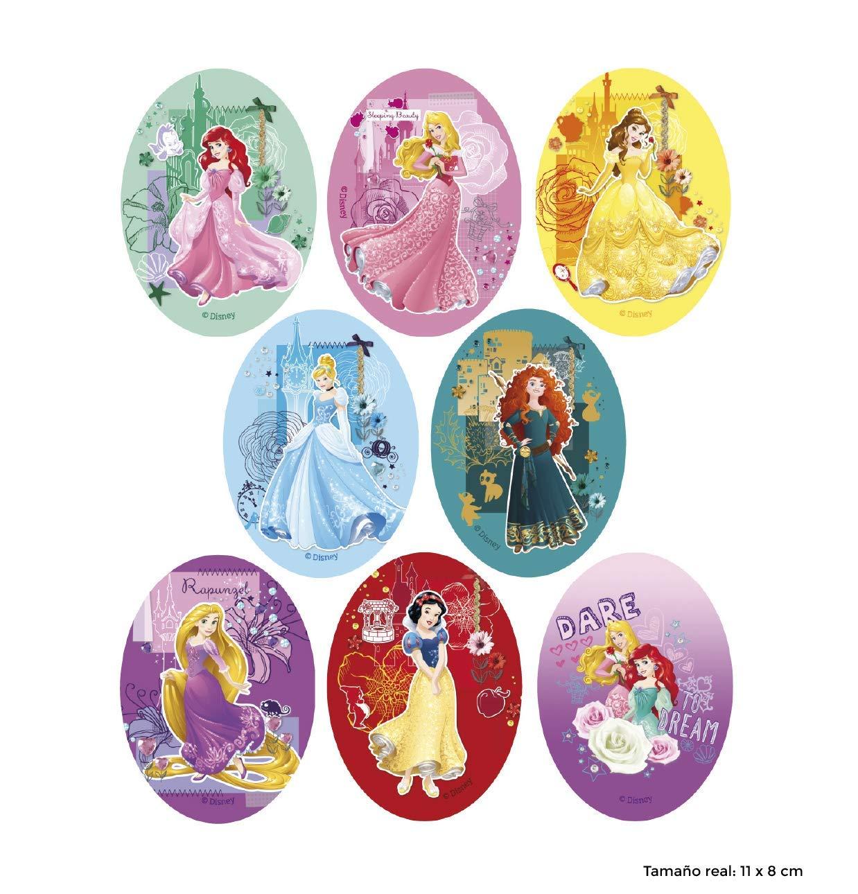 REF.6744-U8 8 parches princesas dinsey serigrafiados para planchar