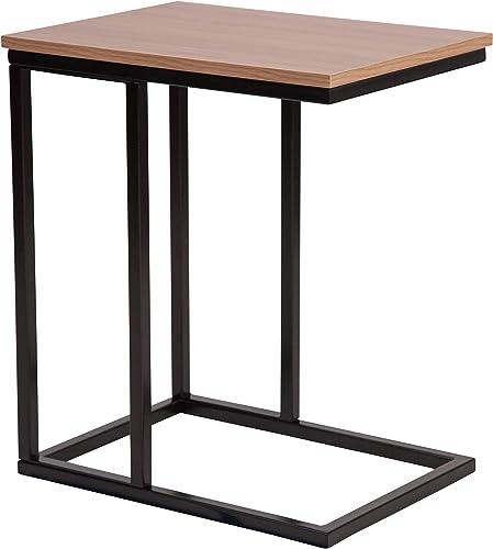 Flash Furniture Aurora Rustic Wood Grain Finish Side Table