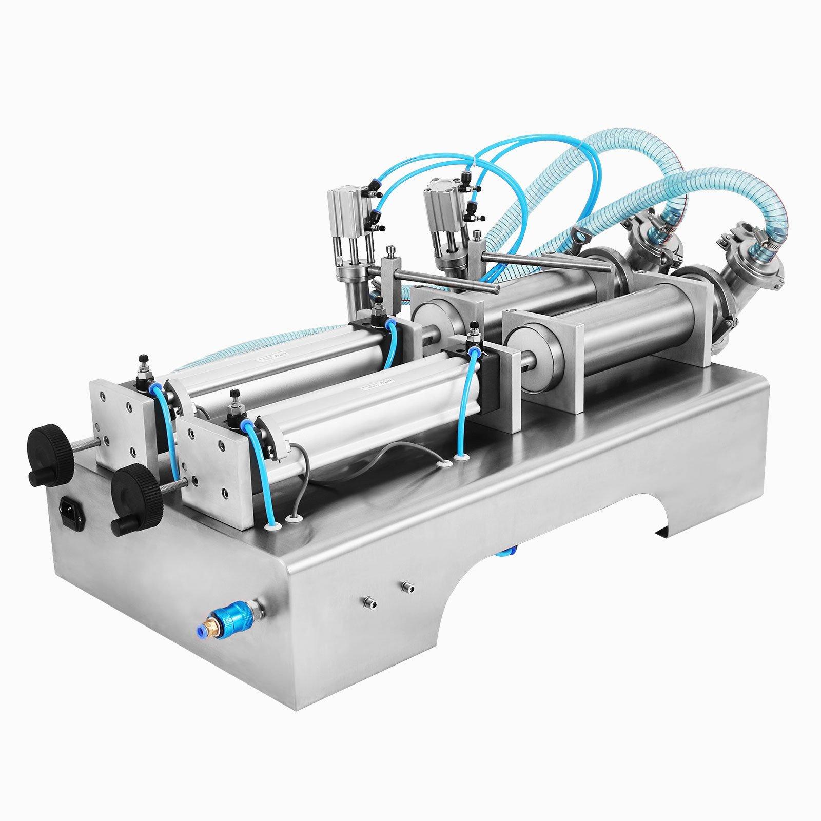 Forkwin Horizontal Full Pneumatic Liquid Filling Machine 100-1000ml Liquid Filling Machine Semi Automatic 10-40bottles/min Liquid Filling Machine for High Viscosity Fluid