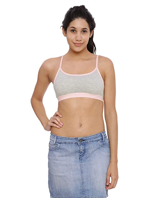 9ff43af0155fc9 Brag Classic Pullover T-Shirt Grey Bralette Bra for Girls Women  Amazon.in   Clothing   Accessories