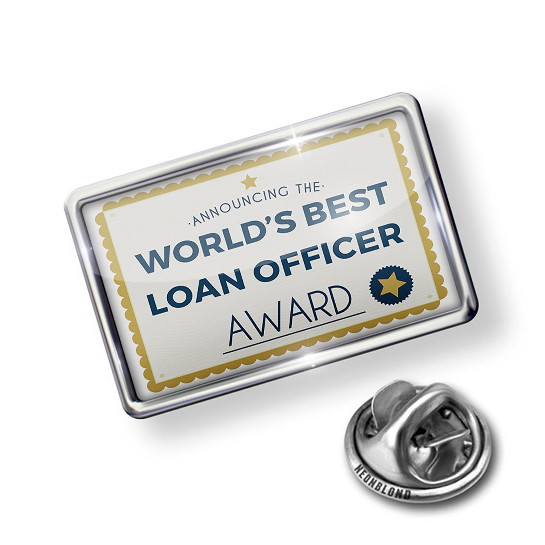 Amazon Neonblond Pin Worlds Best Loan Officer Certificate Award