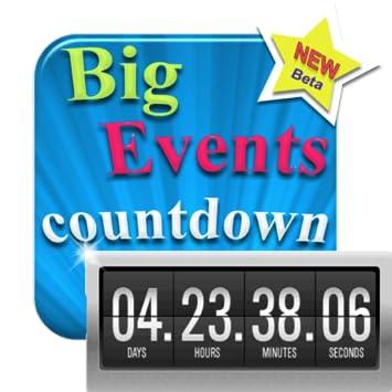 Amazon com: My Big Events - Countdown - Digital Event Count Down