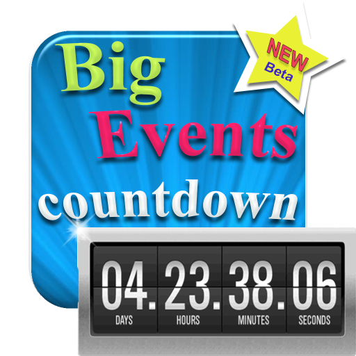 My Big Events - Countdown - Digital Event Count Down Clock with HD full screen background (for counting how many days and time to go, until your dream -