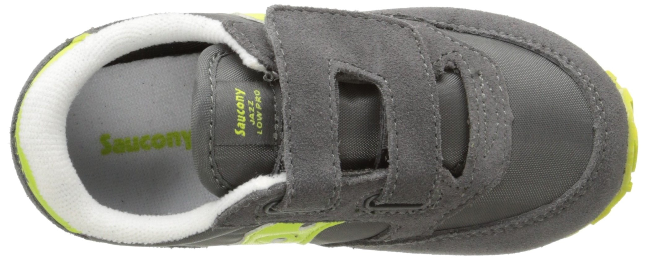 Saucony Jazz Hook & Loop Sneaker (Toddler/Little Kid), Grey/Citron, 9 M US Toddler by Saucony (Image #8)