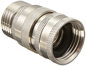 Duda Diesel Quick Disconnect Garden Hose Fitting No Stop 304 Stainless  Steel Male X Female GHT