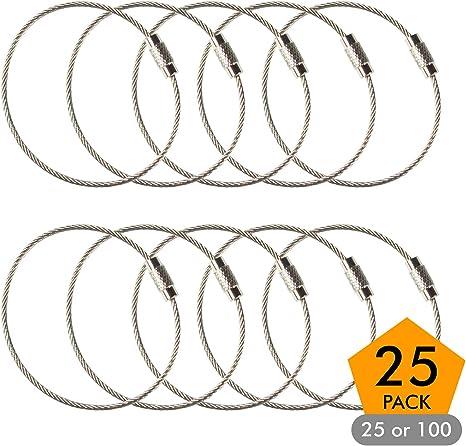 Amazon.com: Llavero de alambre de acero inoxidable, 6.3 ...
