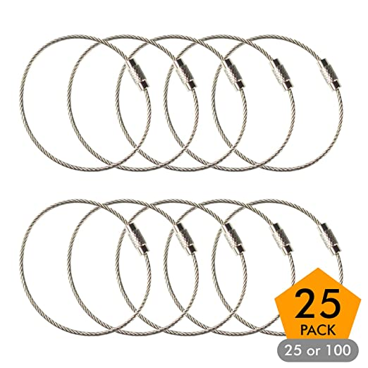 Amazon Com Stainless Steel Wire Keychains 1 5mm 6 3 Inches