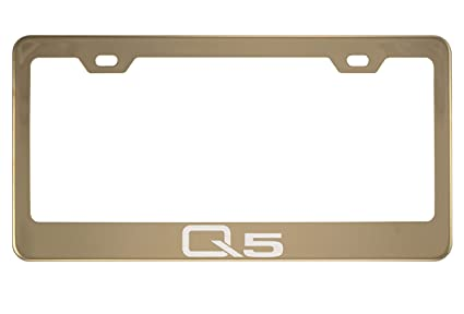 Amazon.com: Audi Q5 Mirror Champagne Gold License Plate Frame (Zinc ...