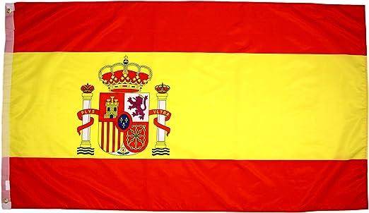 High Supply Bandera de España con Dos Ojales de latón, 100% Tela de poliéster y