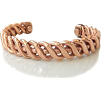 Shinde Exports Heavy weight design brown pure Copper kada bracelet for men and women