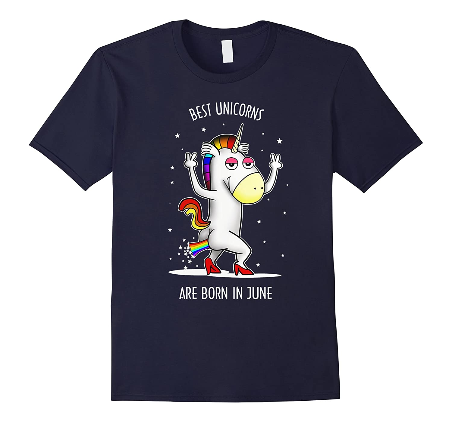 Best unicorns are born in June T-shirt-CD