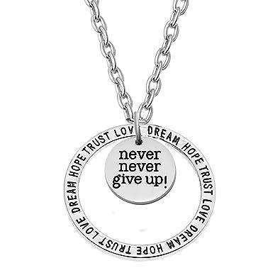 e91cc073c Amazon.com: AGR8T Pendant Necklace Inspirational Best Friend Family ...
