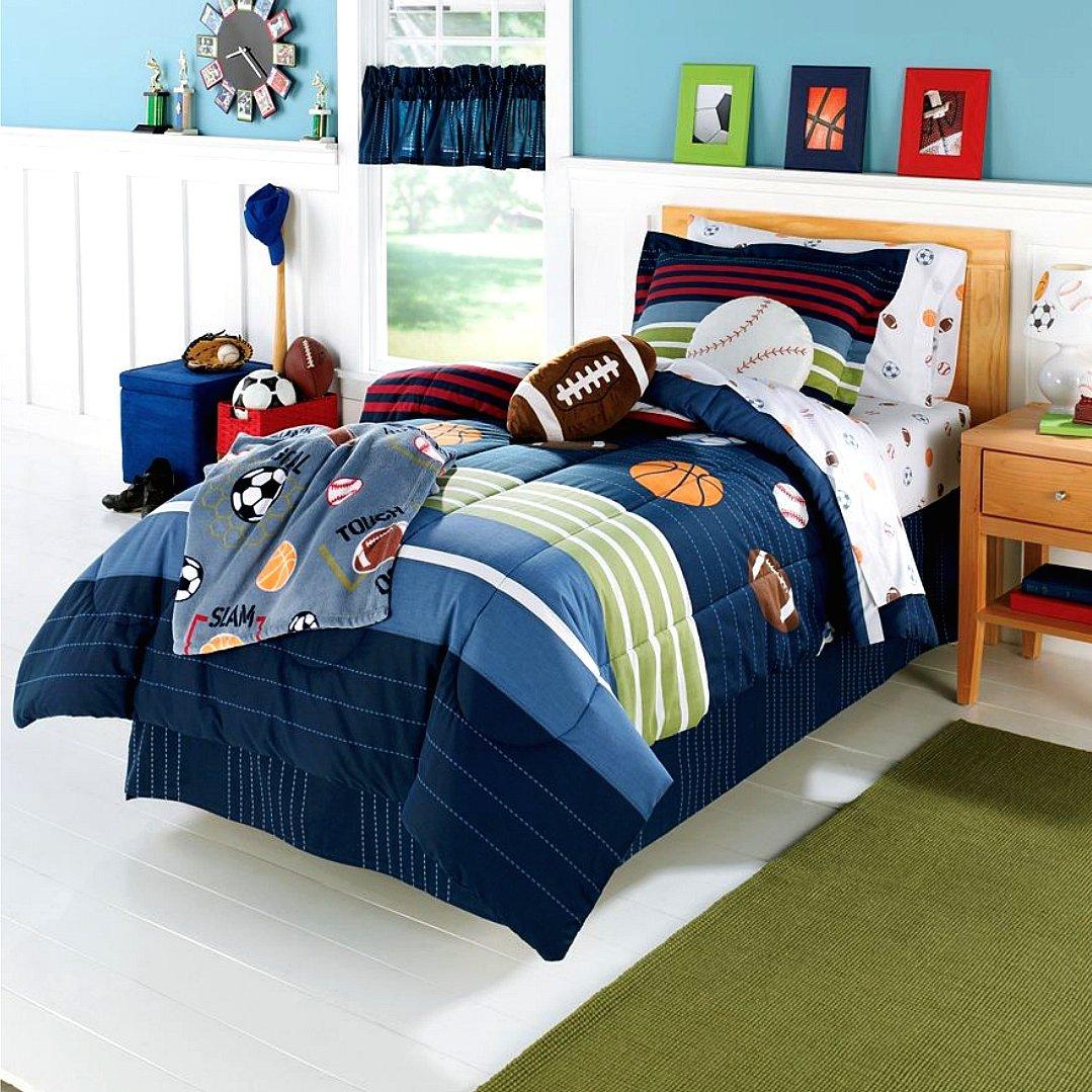 Amazon com  MVP Sports Boys Baseball  Basketball  Football Twin Comforter  Set  5 Piece Bed In A Bag   Home   Kitchen. Amazon com  MVP Sports Boys Baseball  Basketball  Football Twin