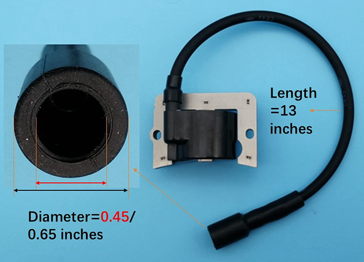 Tuzliufi Replace Ignition Coil Kohler CH11 CH12.5 CH13 CH14 CH15 CH410 CH430 CH450 CV11 CV12.5 CV13 CV14 CV15 CV430 CV460 CV461 CV490 CV491 CV492 CV493 12-584-02 12-584-05 12-584-05-S New Z251