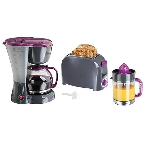 Tostadora 2 ranuras + cafetera 12 tazas + exprimidor 1.2L