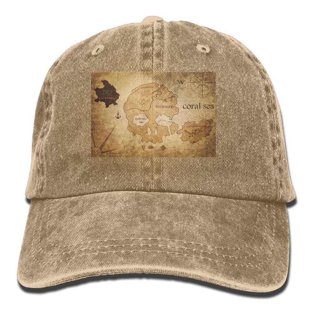 Trableade Skeleton Map Unisex Sport Adjustable Structured Baseball Cowboy Hat