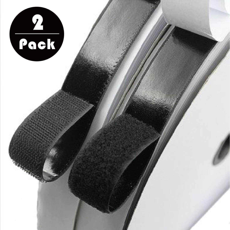 Blizim Nastro Adesivo in Velcro di Fissaggio Autoadesivo Hook Loop 10 x 200cm