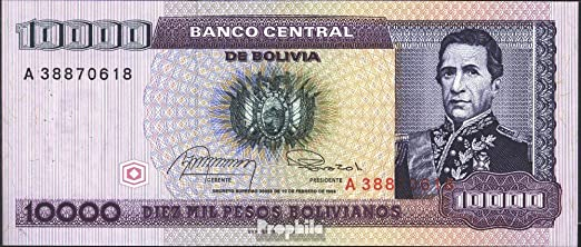 Billetes para coleccionistas: Bolivia Pick-No.: 169a UNC 1984 10.000 Pesos Boliv.: Amazon.es: Juguetes y juegos