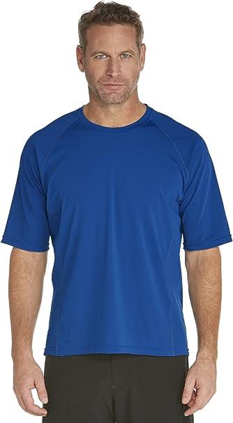 Coolibar UPF 50 Sun Protective Mens Hightide Long Sleeve Swim Shirt