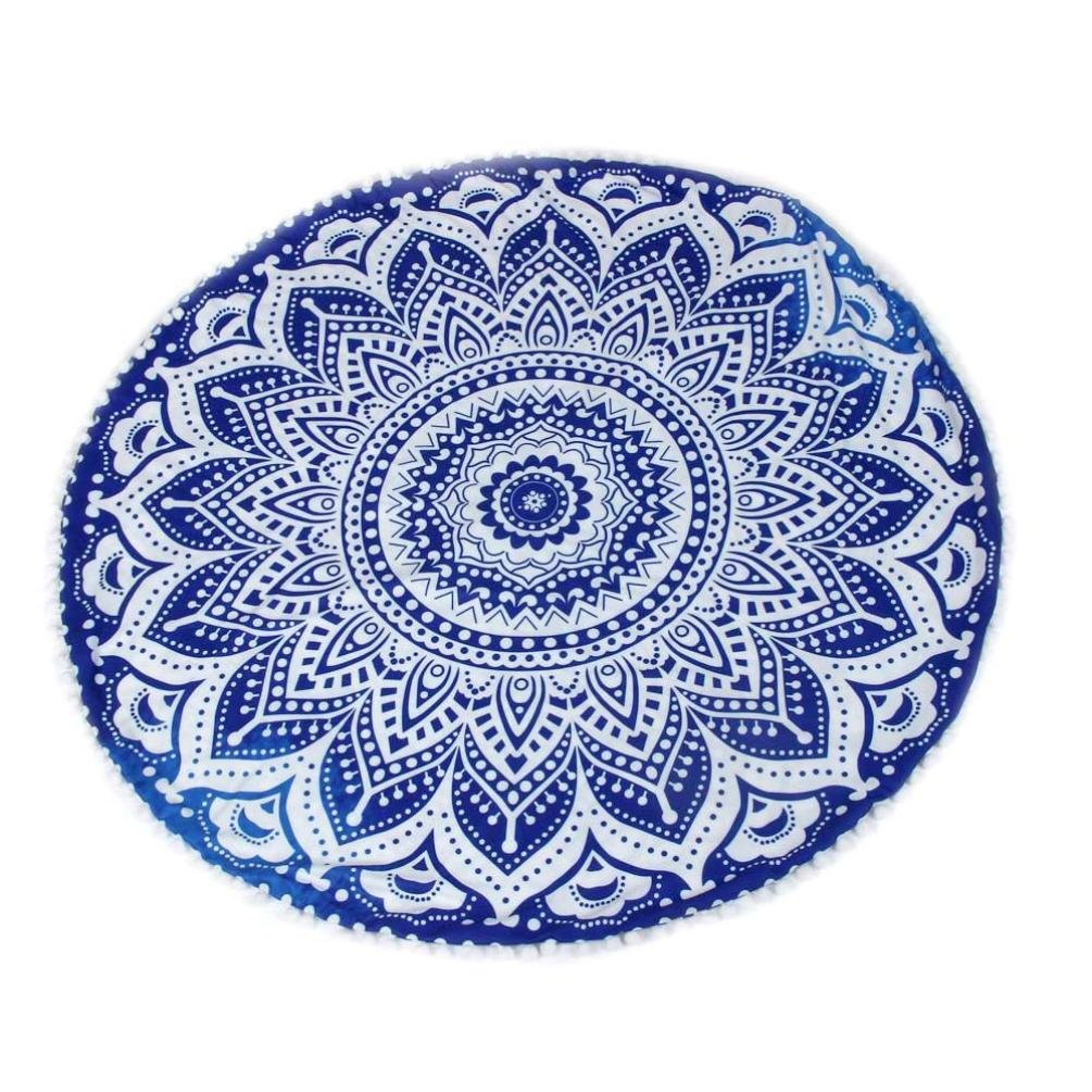 Hot Sale !Indian Large Mandala Floor Pillows,Beautyvan Comfortable Home Car Bed Sofa Large Mandala Floor Pillows Round Bohemian Meditation Cushion Cover Ottoman Pouf (A)