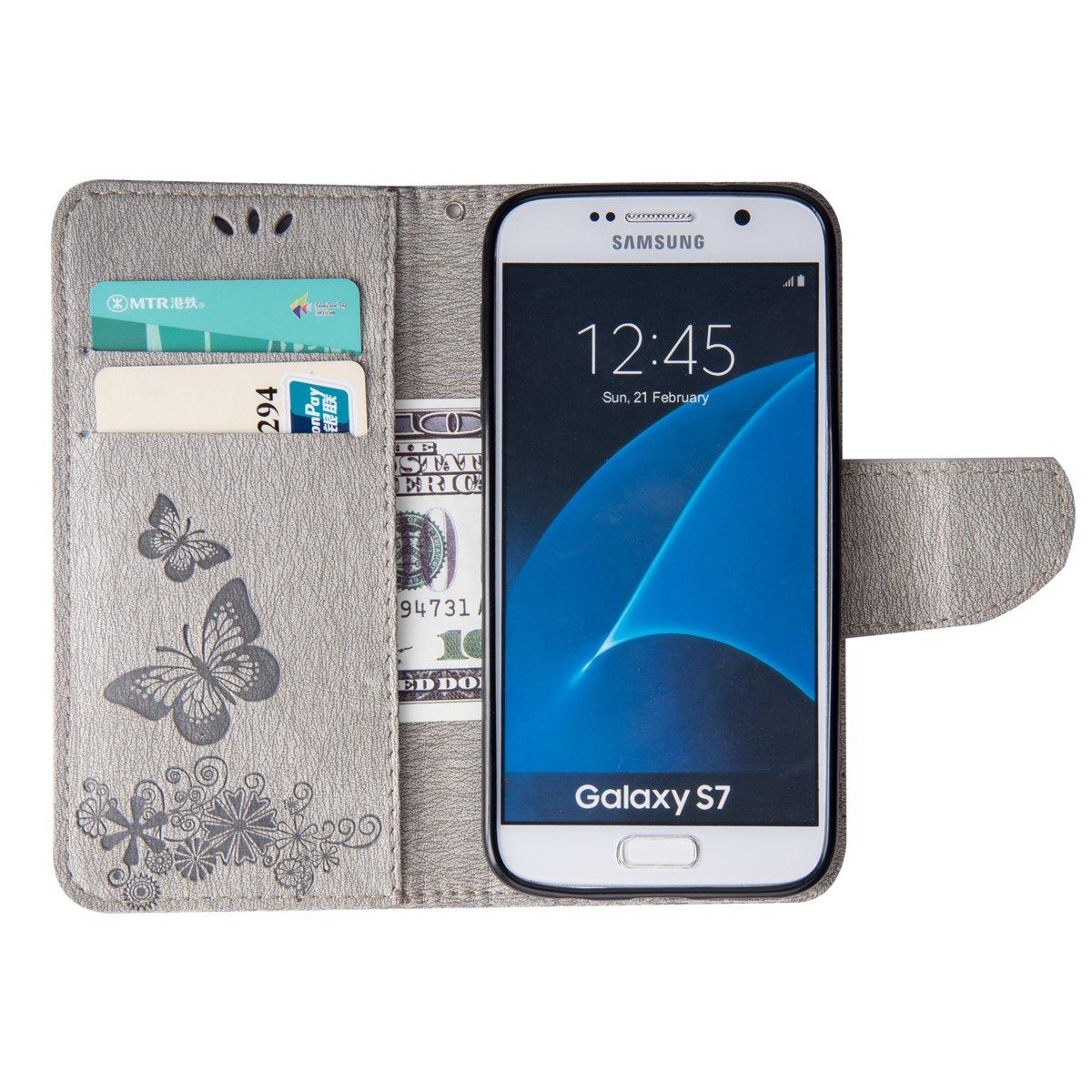 Lebenslange Garantie Grandoin Bling Glitzer Brieftasche-Stil f/ür Samsung Galaxy S7 Handytasche PU Leder Flip Cover Schutzh/ülle mit Aufstellfunktion St/änder Kartenfach Etui Case Galaxy S7 H/ülle