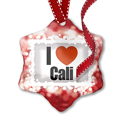 Christmas In Colombia South America.Amazon Com Neonblond Christmas Ornament I Love Cali Region
