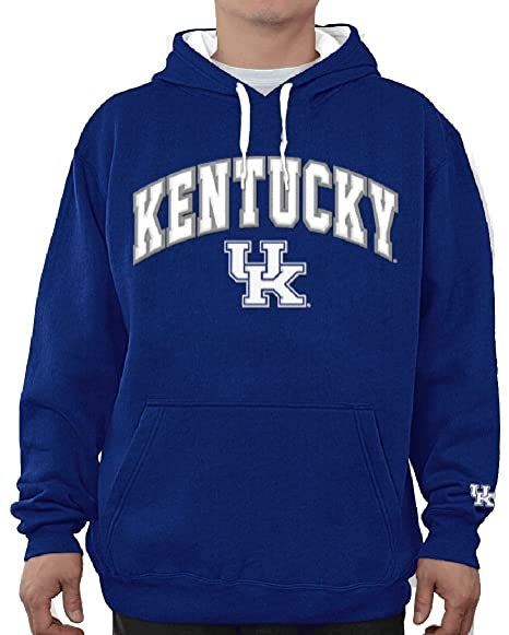 new product 5abf9 b5301 E5 NCAA Kentucky Wildcats Royal Embroidered College Classic Hoodie  Sweatshirt (L 44)