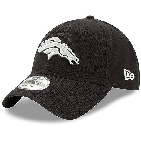 newest 62b62 e3de3 Image Unavailable. Image not available for. Color  Denver Broncos New Era  NFL 9Twenty  quot Twill Core Classic quot  Adjustable Black Hat