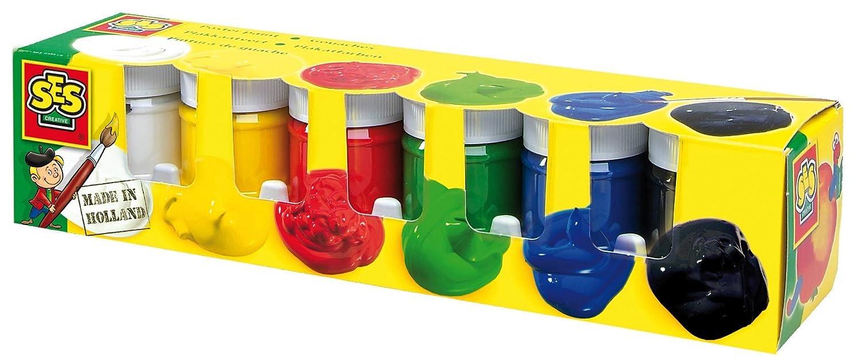 SES Creative 00311 Colori per Poster, 6 Colori da 50 ml l'uno 6 Colori da 50 ml l' uno Selegiochi s.r.l.