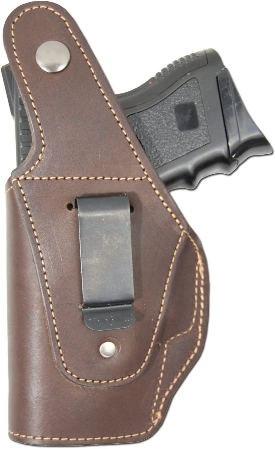 Sub Compact 9mm 40 45 Barsony New Brown Leather OWB Belt Clip Holster for Compact