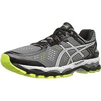 ASICS 男士 GEL-Kayano 22 跑步鞋 Charcoal/Silver/Lime 8 D(M) US