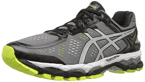 ASICS Men's Gel Kayano 22 Running Shoe, Charcoal/Silver/Lime, 6 M US