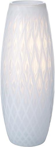 Mikasa Artisan Series White Whisper Diamond Vase, 13.5-Inch