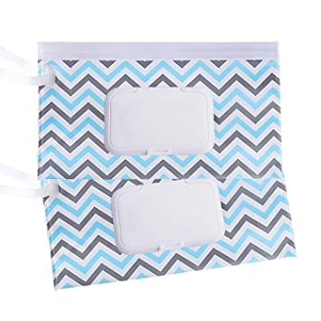 2 pack Reusable Wet Wipe Pouch Dispenser for Baby or Personal Wipes Eco Friendly Wipe Pouches Great for Travel A#-03