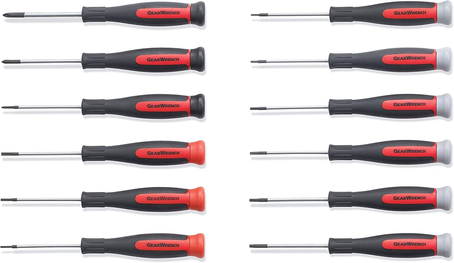 GearWrench 80057 12 Piece Mini and Torx Dual Material Screwdriver Set
