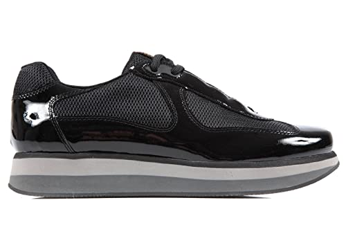 Prada scarpe sneakers uomo in pelle nuove nevada nero  Amazon.it  Scarpe e  borse 1395fd0f37a