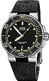 Oris Aquis Mens Date 42MM Automatic Black Face Black Rubber Strap Swiss Watch 73376534127RS