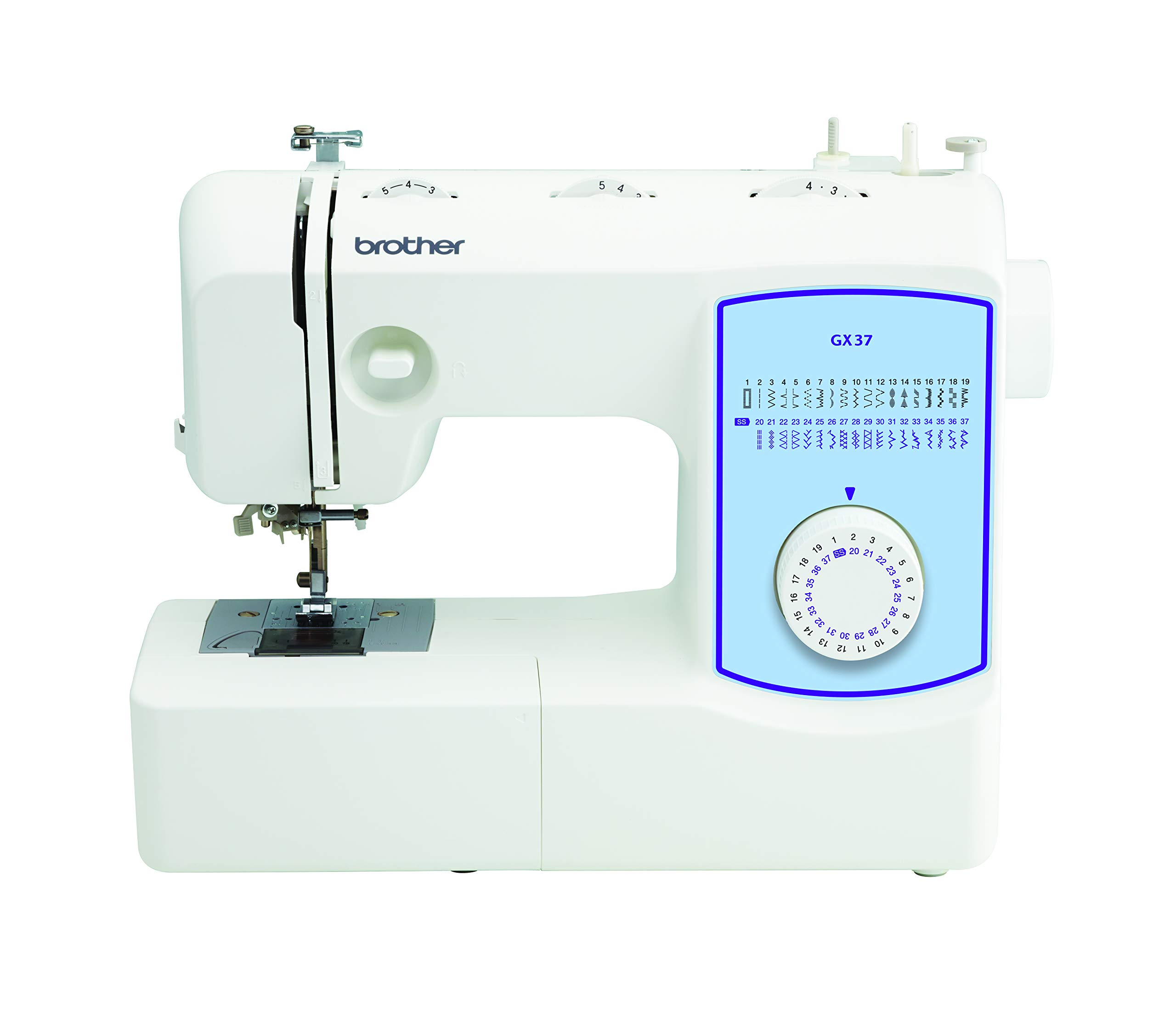 Brother GX37 Lightweight, Full Featured Sewing Machine, White by Brother