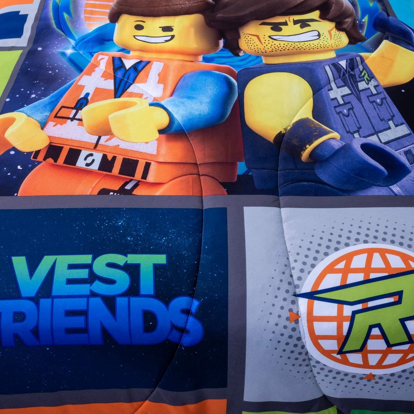 "LEGO Movie 2 Galactic Duo Reversible Full Comforter 86\"" x 72\"""