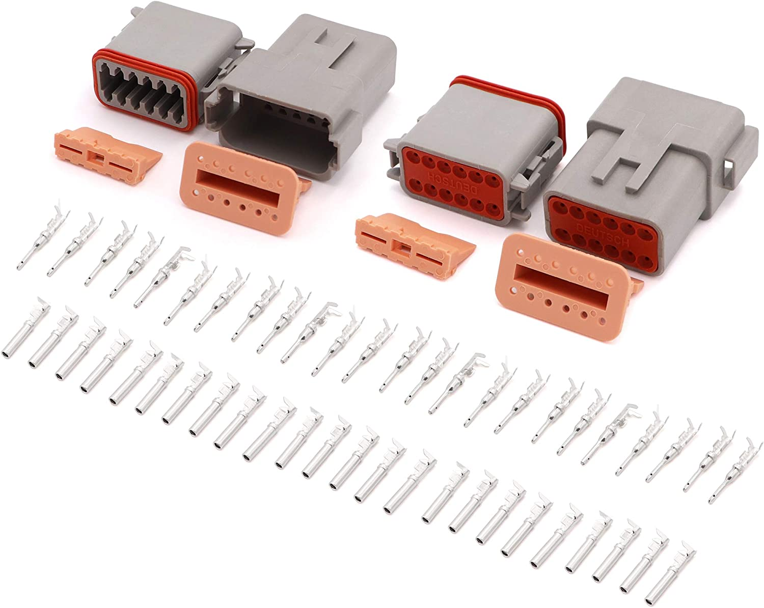 Amazon Com Dt Series Connector 12 Pin 16 Awg 22 Awg Sealed Male And Female Auto Waterproof Electrical Wire Connector Plug Automotive